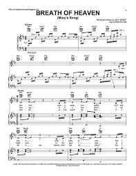 heaven piano sheet music breath of heaven free sheet music by amy grant pianoshelf