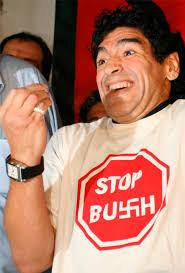 Resultado de imagen para chavez y Maradona cumbre de las américas