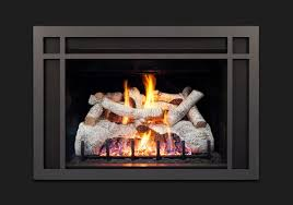 real fyre charred mountain birch log set for dvi 25 series direct vent gas fireplace inserts