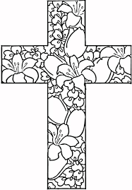Cross Coloring Pages For Adults Coloringstar