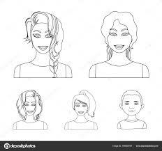 女性のヘアスタイルの種類は設計のためのセットのコレクションの