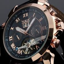 aliexpress com buy jaragar automatic watch men luxury brand aliexpress com buy jaragar automatic watch men luxury brand leather strap rose gold watches men tourbillion watch automatic watch reloj hombre from
