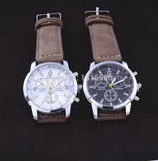 new fashion leather strap watch luxury brown color watches men new fashion leather strap watch luxury brown color watches men quartz male reloje watch sports casual wristwatches montre homme in quartz watches from