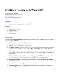 Unique Building Your Resume Elaboration Documentation Template