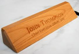 personalized wooden desk name customized walnut desk name executive personalized desk name plate
