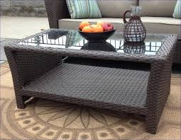 rattan and glass coffee table outdoor wicker coffee table with glass top via outdoor wicker round rattan and glass coffee table