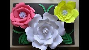 Flower Templates For Paper Flowers Paper Flower Template 1 Kit Diy Make Unlimited Flowers