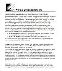 business report writing samples com sample business report 6 documents in pdf psd intended for business report writing