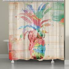colorful shower curtains. Delighful Curtains Colorful Pineapple Shower Curtain For Curtains Y