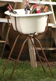 vintage baby tub beverage bucket