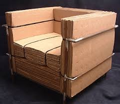 recycled paper furniture. Completely Made Of Recycled Materials; Used Cardboard, Nylon Strapping, And Rusted, Forgotten Steel, Welded For The Frame. By Nick Michelin Paper Furniture S