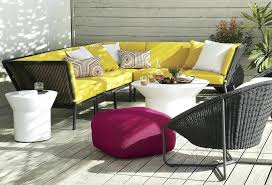 crate barrel outdoor furniture. Outdoor Furniture Ideas View In Gallery Bright Yellow Sofa From Crate Barrel For