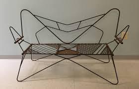 vintage mid century modern patio furniture. Vintage Mid Century Modern Metal Outdoor Patio Furniture Yard Love Seat  Bench 1 Of 8 Vintage Mid Century Modern Patio Furniture H