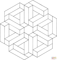 Small Picture Optical illusions coloring pages Free Coloring Pages