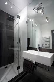 bathroom track lighting master bathroom ideas. Modern Black And White Industrial Style Bathroom Track Lighting Master Ideas