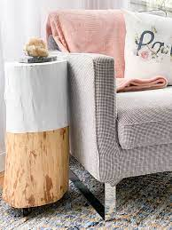 diy tree stump table diy passion