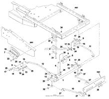 husqvarna cz 4817 koa 968999220 2002 11 parts diagram for deck lift assembly