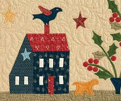 30 best Quilt Along with Us! images on Pinterest | Quilt blocks ... & OVER THE MEADOW AND THROUGH THE YEAR -- HOMESTEAD IN WINTER quilt block of  the Adamdwight.com