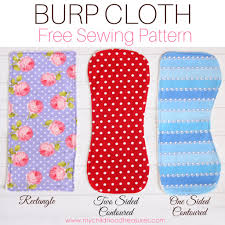 Burp Cloth Pattern Inspiration Burp Cloth Pattern Free Printable Pattern For 48 Styles TREASURIE