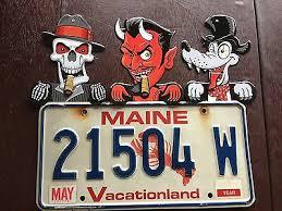 Automobilia Skeleton license plate topper tin <b>mechanical skull</b> eye ...