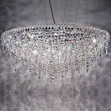 contemporary round crystal chandelier