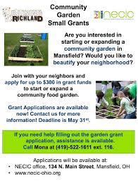 community garden grants available