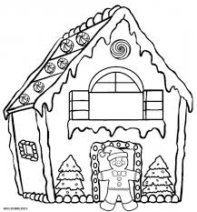 Coloring Pages Gingerbread House Coloring Page Stvx Get This Free