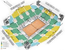 Philippe Chatrier Seating Chart Suzanne Lenglen Court