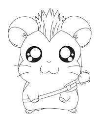 Hamster For Colorir Colouring Pages Page 3 Hamtaro