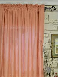 QYK246SEE Eos Linen Red Pink Solid Rod Pocket Sheer Curtains (Color: Light  Coral) QYK246SEE Eos Linen Red Pink Solid Rod Pocket Sheer Curtains (Color:  Light ...