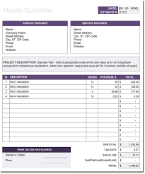 price estimate template hourly price quotation template free estimate and quote templates