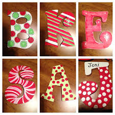 wooden letters design letter painting ideas wood within painted on designs 11