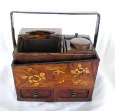 Exquisitely Detailed Japanese Lacquer Picnic <b>Box</b> with Sake Bottles ...