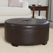 house captivating circular ottoman 11 brown leather small storage ikea upholstered coffee table footstool cream round