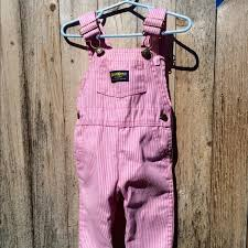Girls pink and white striped shortalls