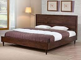 Amazon.com: Vilas Modern King Size Solid Wood Platform Bed Frame ...