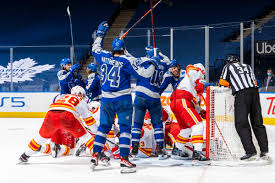 Maple leafs the flames look to bounce back in second of two straight with the leafs by ryan dittrick @ryandittrick / calgaryflames.com Game 31 Chat Maple Leafs Vs Flames Pension Plan Puppets