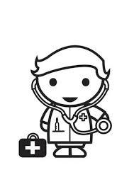 Kleurplaat Dokter Craft For Children Doctor Theme Preschool