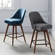 swivel bar chairs. Interesting Chairs MidCentury Upholstered Swivel Bar  Counter Stools In Chairs C