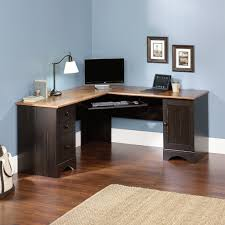 desk office design wooden office. Cool Home Office Design With Sisal Rug And Wooden Floor L Shaped Corner Desk E