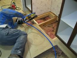 bathroom subfloor replacement. Removing Old Subflooring And Laying New In A Mobile Home Bathroom Subfloor Replacement