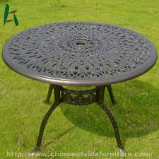cast aluminum round coffee table