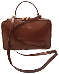 gucci leather bamboo train cross bag image 0