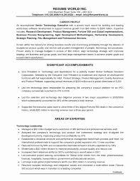 Hotel Job Resume Format