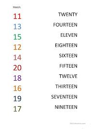 28 free esl numbers 1 20 worksheets 1120_72 - Criabooks : Criabooks