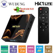 HK1 LITE Smart TV Box Android 9.0 Rockchip RK3228A Quad Core 2GB 16GB 4K HD  2.4G wifi Set Top Box HDMI2.0 Kotak TV|Set-top Box