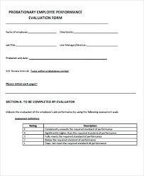 Free Evaluation Templates Contractor Evaluation Template Sample Performance Evaluation Forms