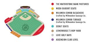 Frontier Park Seating Chart Stadium Map Milwaukee Milkmen