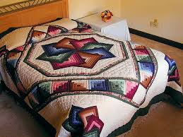 Star Spin Quilt -- superb carefully made Amish Quilts from ... & Green and Multicolor Star Spin Quilt Photo 1 ... Adamdwight.com