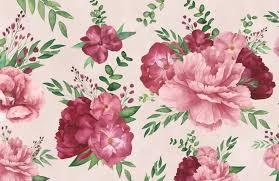 light pink watercolor fl print